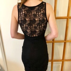 Lace Open Back LBD - G by Guess